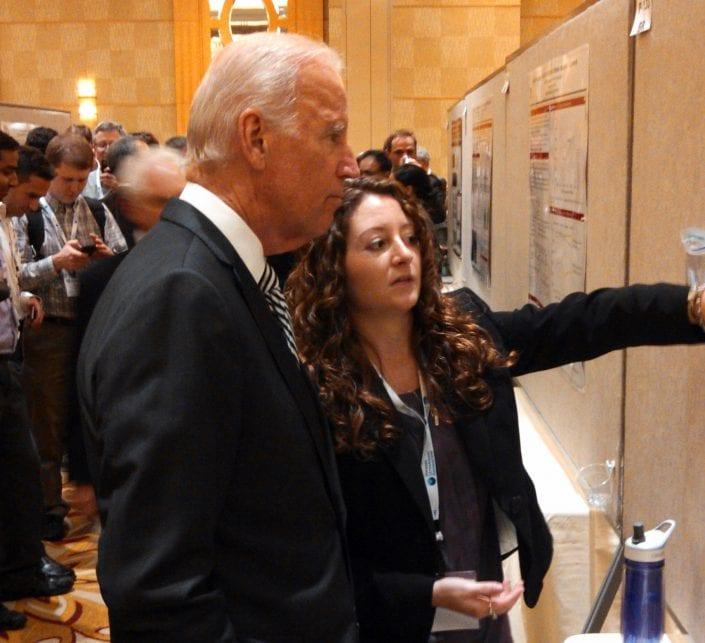 Kelsie Showing the VP Some Sweet Science